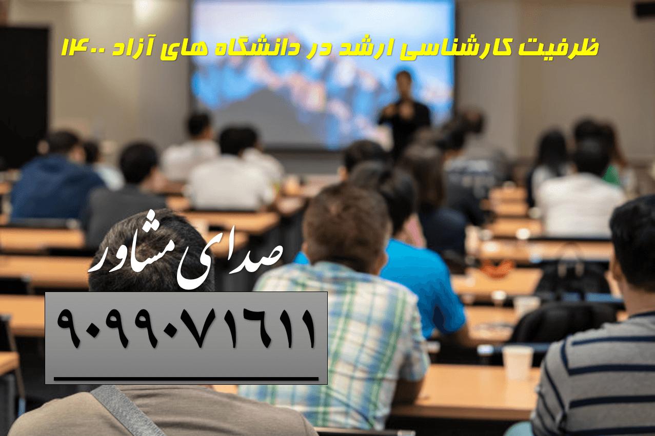 ظرفیت رشته های کارشناسی ارشد در دانشگاه های آزاد 1400